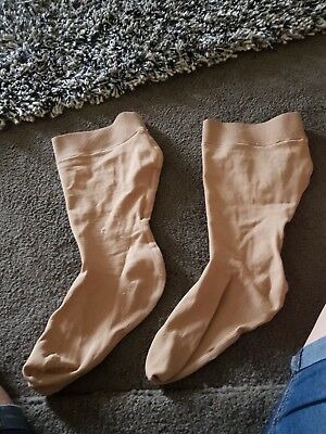 partex light below knee compression stockings  size 13  enclosed toe