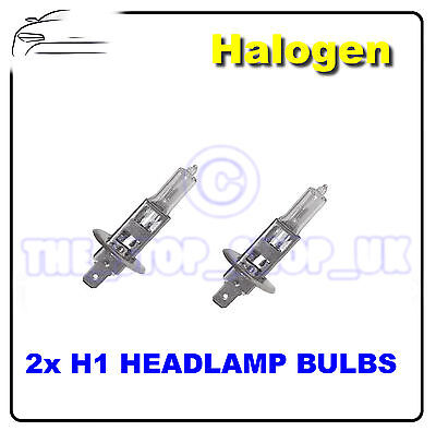 2 X Remplacement Halogène H1 One Broche 100w Lampes Frontales Ampoules