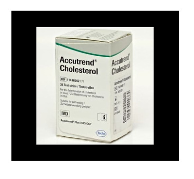 Accutrend Blood Cholesterol Test Strips Monitor Control Roche Monitoring Testing
