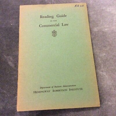 Vintage Commercial Law Reading Guide Booklet - Hemingway Robertson Institute
