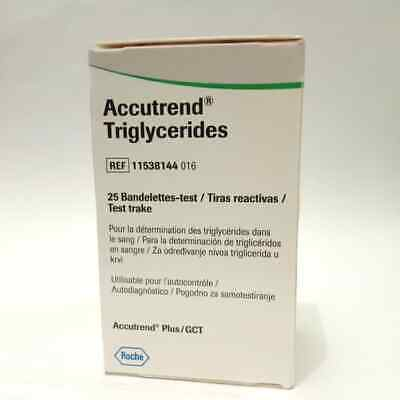 Accutrend Blood Triglyceride Triglycerides Test Strips Roche Monitoring Testing
