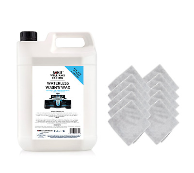 Williams Waterless Wash and Wax Car Cleaner 5L with 10 Microfibre Cloths