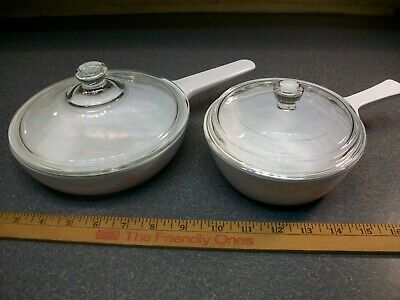 Corning Ware Peach Floral Pans