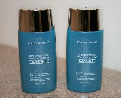 2 x Colorscience Sunforgettable Total Protection Face Shield SPF 50 0.3 oz = 0.6
