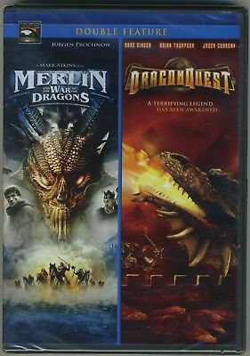 DragonQuest/Merlin and the War of the Dragons DVD Mark Atkins The Asylum NEW