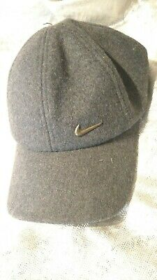 Mens Nike Metal Swoosh Logo Sports Golf Baseball Running Adjustable Peak Cap Hat