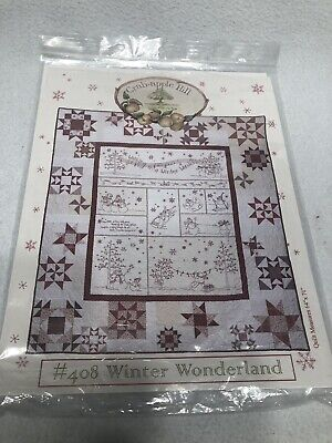 CRAB-APPLE HILL #408 Winter Wonderland Quilt Embroidery Pattern HOLIDAY
