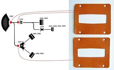 JBL 2 Leather gaskets for 2328 adapter or 2350 horn 2397 2 joints de cuir pro