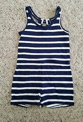 cfc4daddc8a0 NWT Old Navy Girls Navy Blue Striped Sleeveless Rompers One-Piece Size XS 5