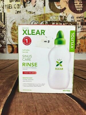 XLEAR Sinus Care Rinse System Fast Relief Breath Easy Cleans Soothes Protects