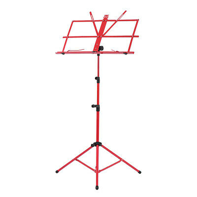 Adjustable Folding Sheet Music Tripod Stand Holder Heavy Duty Red+Case Hot C0K2