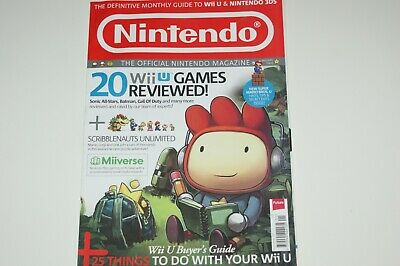 Official Nintendo Magazine UK Issue 90 January 2013 MINT Wii U 3DS