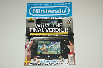 Official Nintendo Magazine UK Issue 89 Christmas 2012 Wii U Launch MINT 3DS