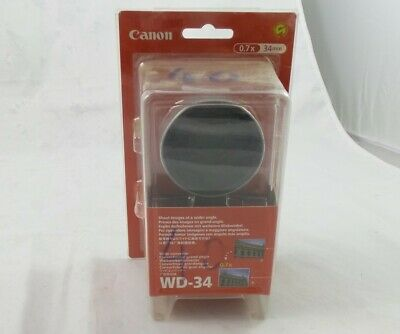 Canon WD34 Wide Converter 7x Wider Perspective (8080A001)