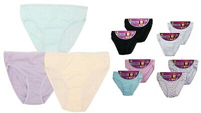 Multi Pack 100% Cotton Ladies Women Girls Bikini Briefs Pants Knickers Underwear