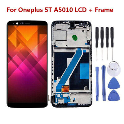 OEM Display For Oneplus 5T A5010 LCD Touch Screen Digitizer Black + Frame RHN02