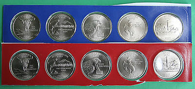 2007 P and D State Quarters 10 Satin Coins Mint Set BU Statehood 25c State Coin