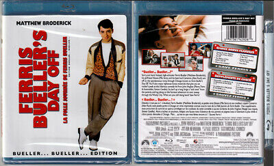 Blu-ray Matthew Broderick FERRIS BUELLER'S DAY OFF cult Cdn OOP Region A/B/C NEW