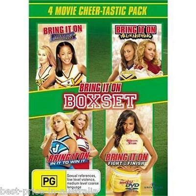 BRING IT ON: Boxset 2+3+4+5 DVD 4-MOVIES COMEDY Kirsten Dunst BRAND NEW R4