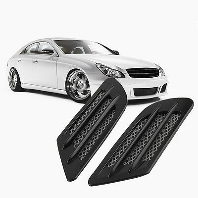 Car Side Air Flow Vent Hole Cover Fender Intake Grille Decoration Sticker SD