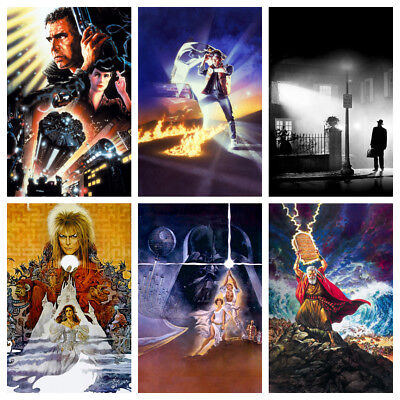 Textless Movie Posters Glossy A3 Classic Vintage Film Art Borderless Maxi Print