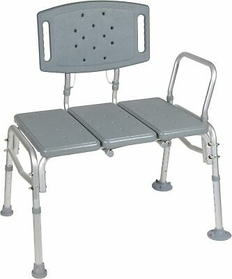 Bariatric Bath Transfer Bench 18.5-23.5in 500 lbs. Removable Arm Rail