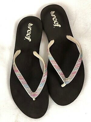 f75eac27727b NEW!! REEF STARGAZER Womens Sz 5 Sandals Flip Flop Thongs Sparkle ...