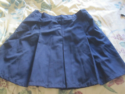 Girls school uniform pleated skirt navy size 14