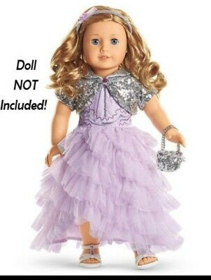 American Girl Store Exclusive 2015 Frosted Violet Gown in Gift Box NEW.