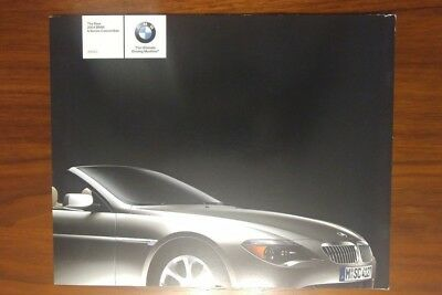 BMW 6 SERIES CONVERTIBLE BROCHURE 645Ci 2004 E64 V8 COLLECTIBLE ADVERTISING