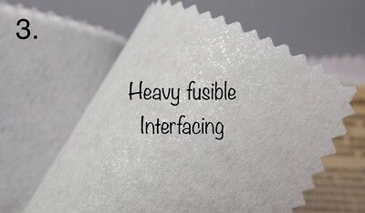 Interfacing- heavy fusible- bag stiffening- bag making- super stiff iron in