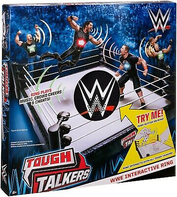 WWE Tough Talkers Interactive Ring Playset Mattel Wrestling Brand New!