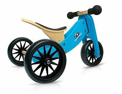 Kinderfeets Tiny Tot 2 in 1 Tricycle & Balance Bike BLUE|First Bikes for Toddler