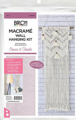 Macrame kit- wall hanging 4 designs- quality Birch product - free postage
