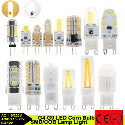 10pc G4 G9 Dimmable LED 3W 5/7W 9W Silicone Crystal SMD/COB Lamp Light Corn Bulb