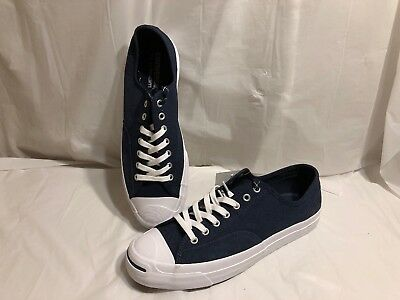 4e0aa72f4b2 Size 10 Converse Jack Purcell Signature Navy Blue Canvas Men s Low Top  Shoes New
