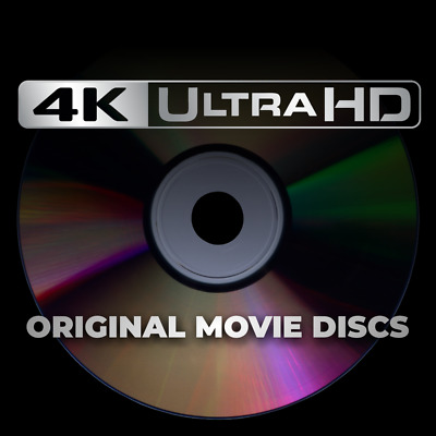 Original 4K Ultra HD Blu-Ray / UHD Bluray Movie Discs - Unwatched -Free Shipping
