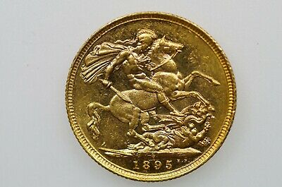 1895 Sydney Mint Gold Full Sovereign Variety Multiple Die Cracks in VF Cond