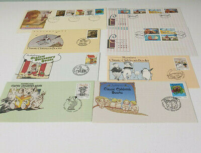 First Day Of Issue Lot Of Envelopes Childrens Book Stamps Snugglepot And Cuddlep