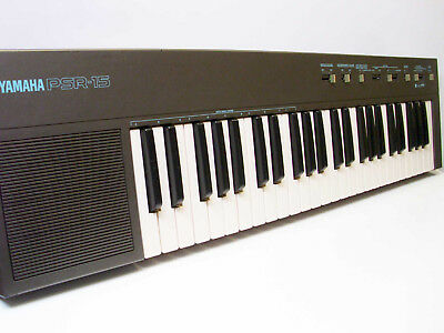 Vintage Yamaha PSR-15 Keyboard with Drums, Piano etc, Works Great- Made In Japan