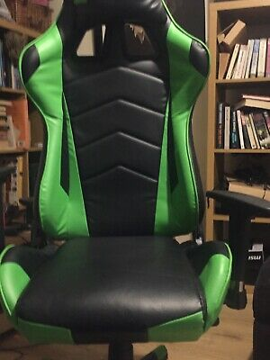JL Comfurni Reclining Office Gaming Chair Racing Sport Lift Computer Desk Swivel