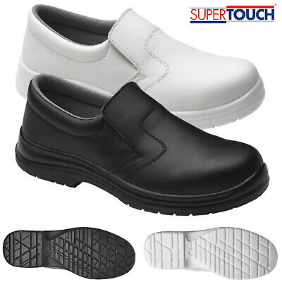 Mens Food X Hygiene Anti Slip On Lightweight Safety Shoes Steel Toe Cap Medical