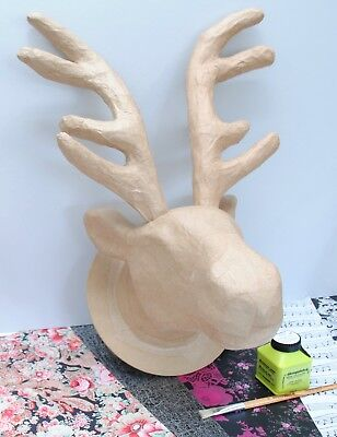 Decopatch Moose Trophy Head Kit, Reindeer Stag Decoupage Creative Craft