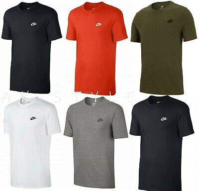 New Men's Nike Gym Sports T-Shirt Retro Nike Logo Top Crew Neck Tee S M L XL XXL