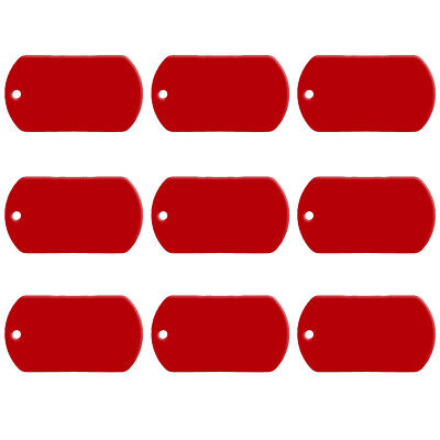 100pcs Red Milltary Personalised Dog Tags Bulk Wholesale Blank ID Tag for Pet