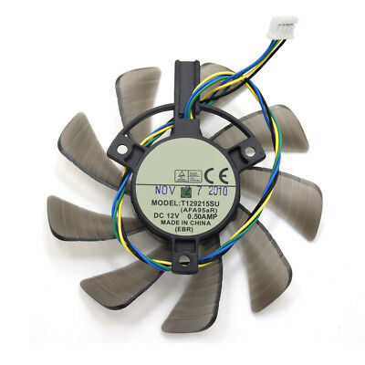 ALS_ 85mm ASUS NVIDIA GTX 460 Video Card Fan Replace 39mm 4Pin T129215SU 0.50A C