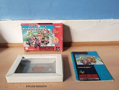 Super Mario Kart SNES Red Box/Manual & Insert Only No Game
