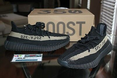 a2538fddd63 Deadstock Adidas Yeezy Boost 350 V2 Green Olive Core Black BY9611 Size 11