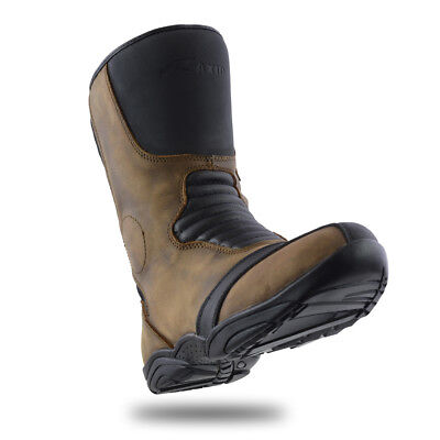 New Motorbike Touring Boots Genuine Top Grain Leather Raxid Scimitar Boots Sale