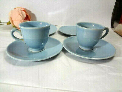Taylor & Smith Luray Pastels 2 Demi Cups & 4 Demi Saucers Blue